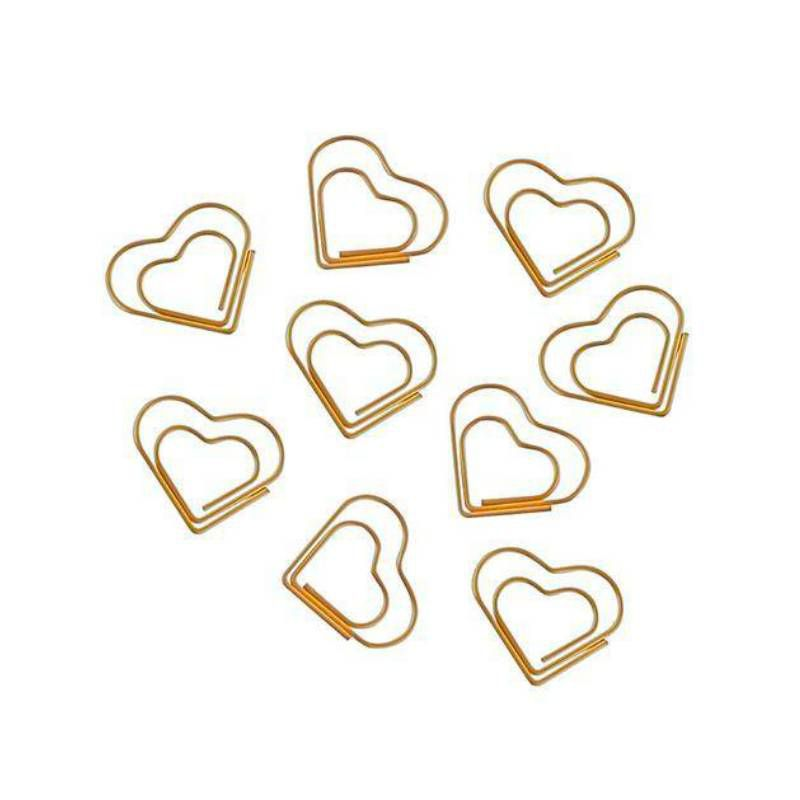 Binder Clips TILIBRA Coração Dourado c/ 20 unds