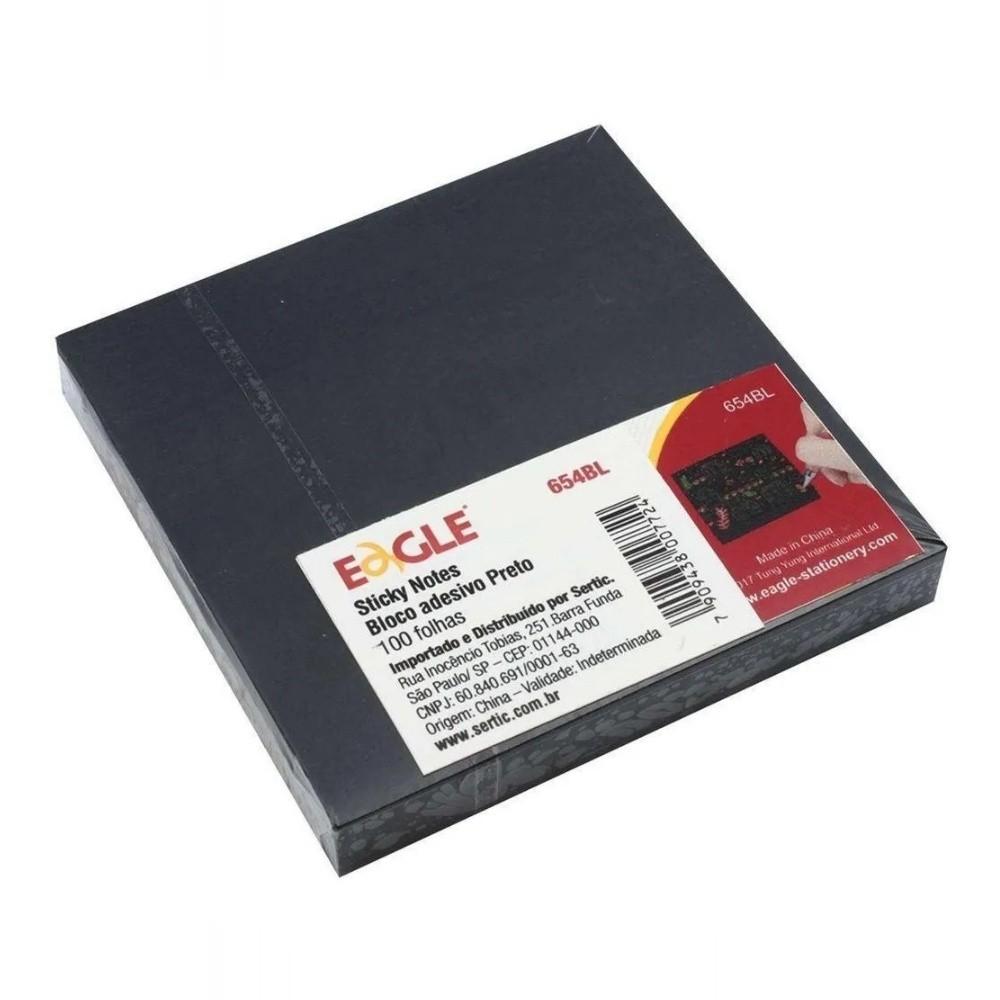 Bloco Adesivo EAGLE Preto c/ 100 fls