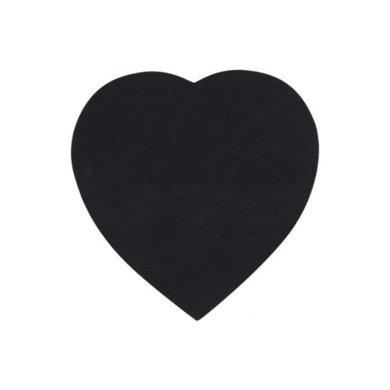 Bloco Adesivo EAGLE Preto c/ 100 fls Coração