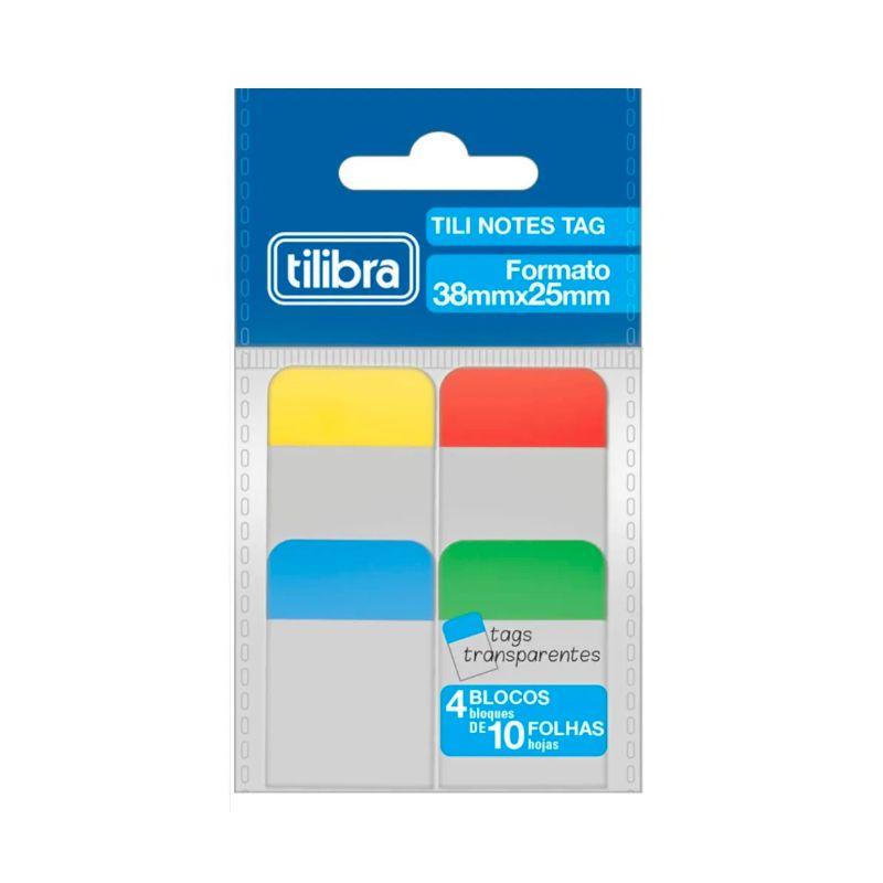 Bloco Adesivo TILIBRA Tili Notes TAG 38 x 25 mm 4 Cores