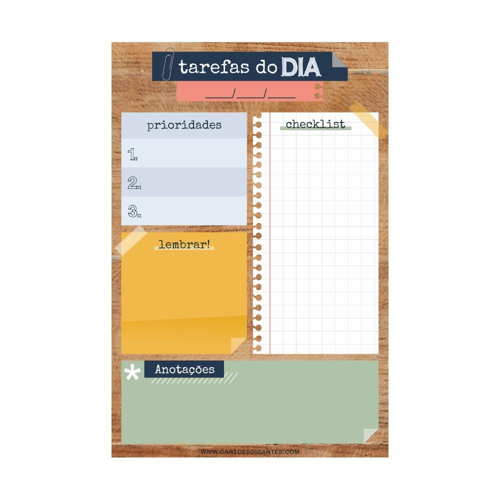 Bloco de Anotações CARTÕES GIGANTES 21x14
