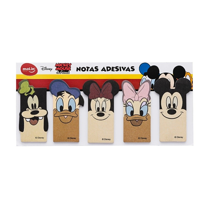 Bloco de Notas Adesivos Mickey e Amigos MOLIN c/ 5 Unids
