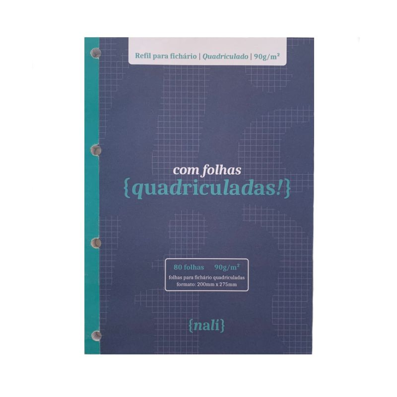 Bloco NALÍ p/ Fichário A4 90g/m2