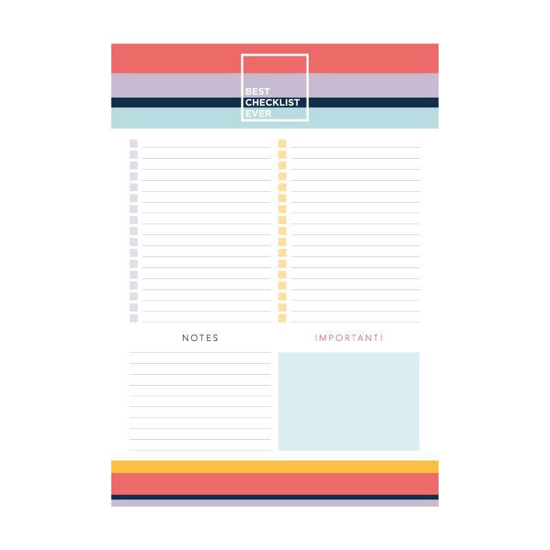 Bloco ÓTIMA Checklist A4