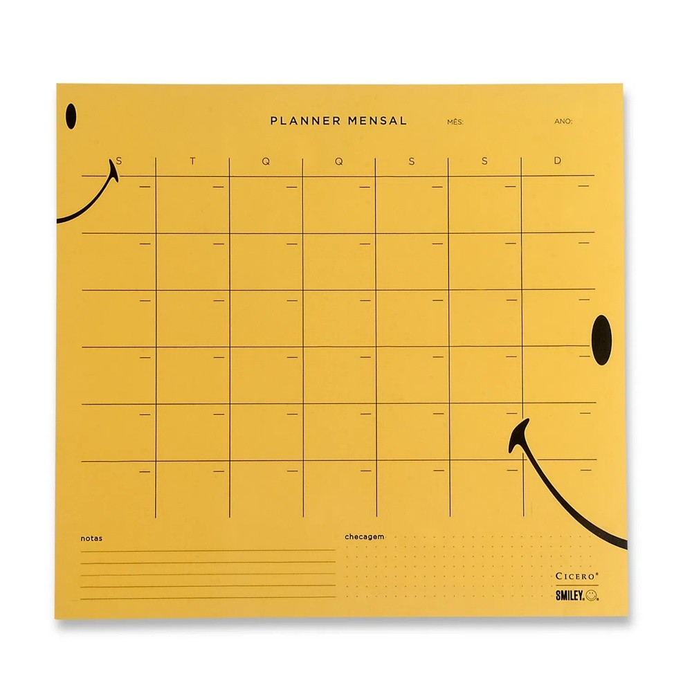 Bloco Planner CICERO Smiley Mensal 29x27