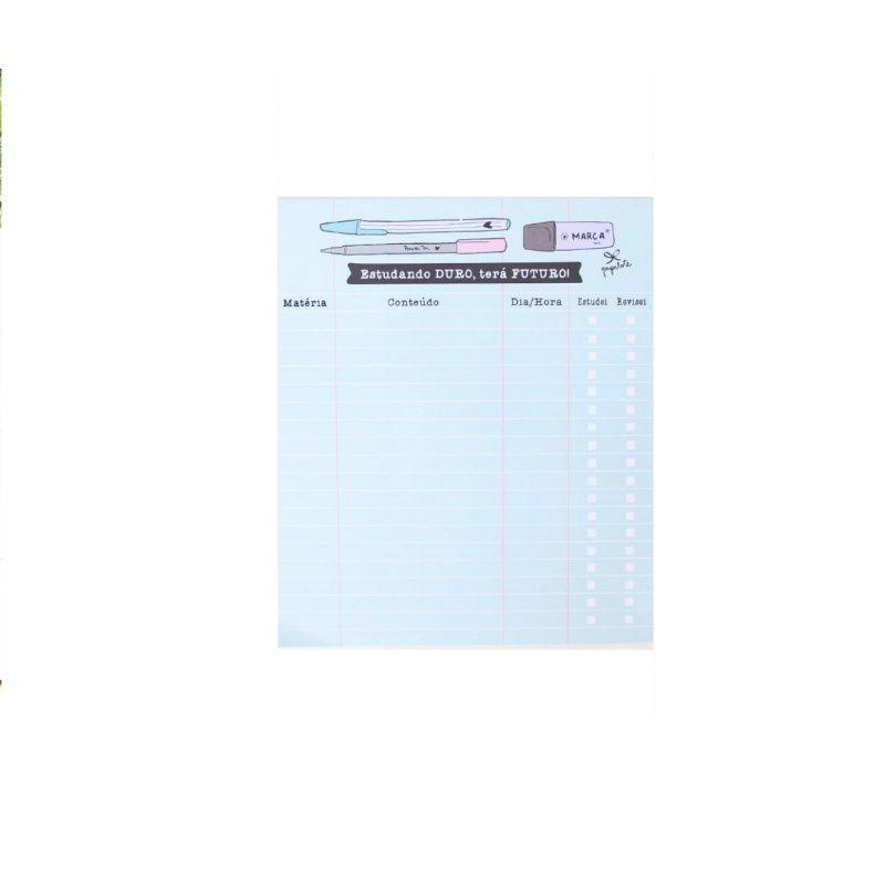 Bloco Planner PAPELOTE Estudando Duro c/ 40 Fls