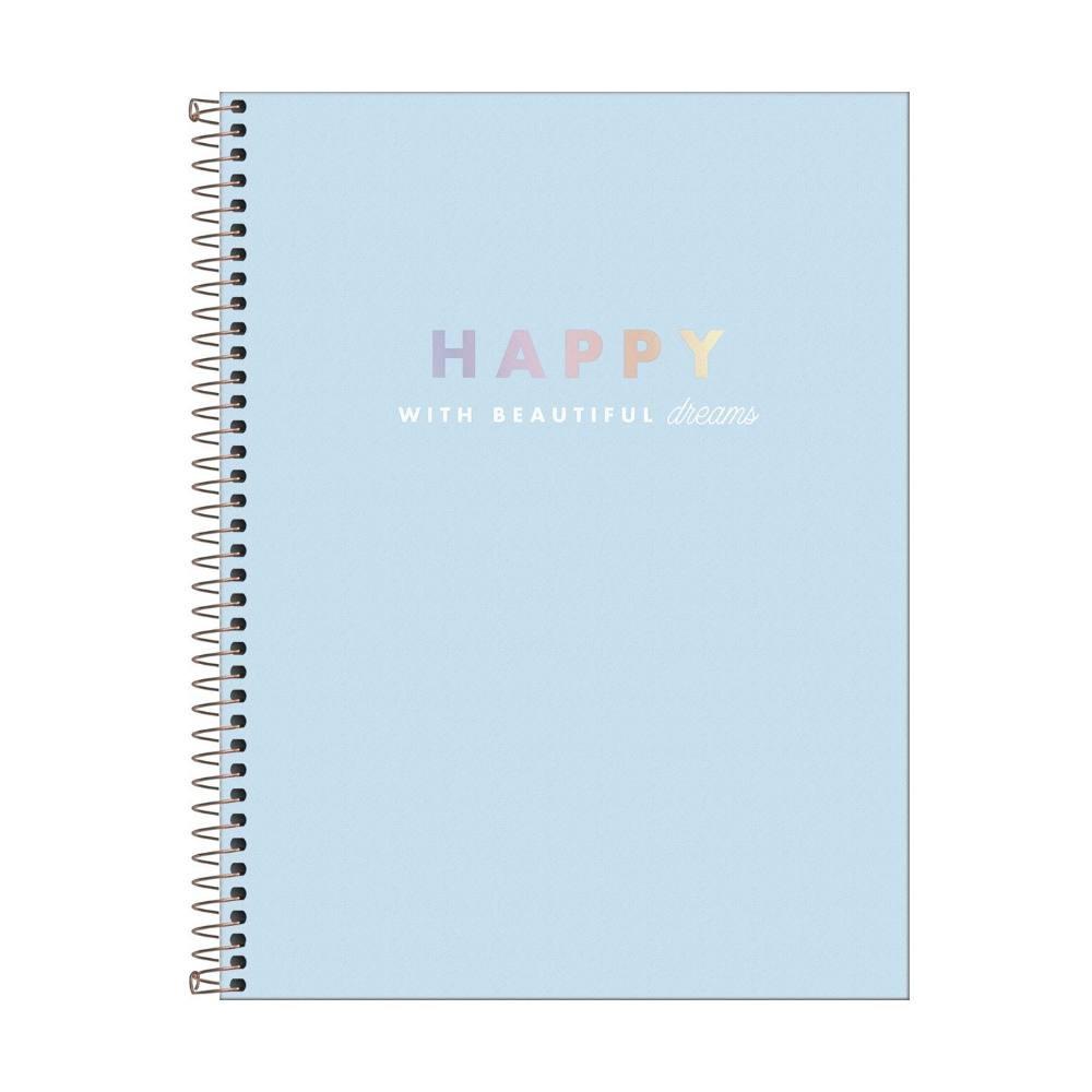 Caderno A4 TILIBRA Happy 90g/m2 -1 Matéria c/ 80 Páginas