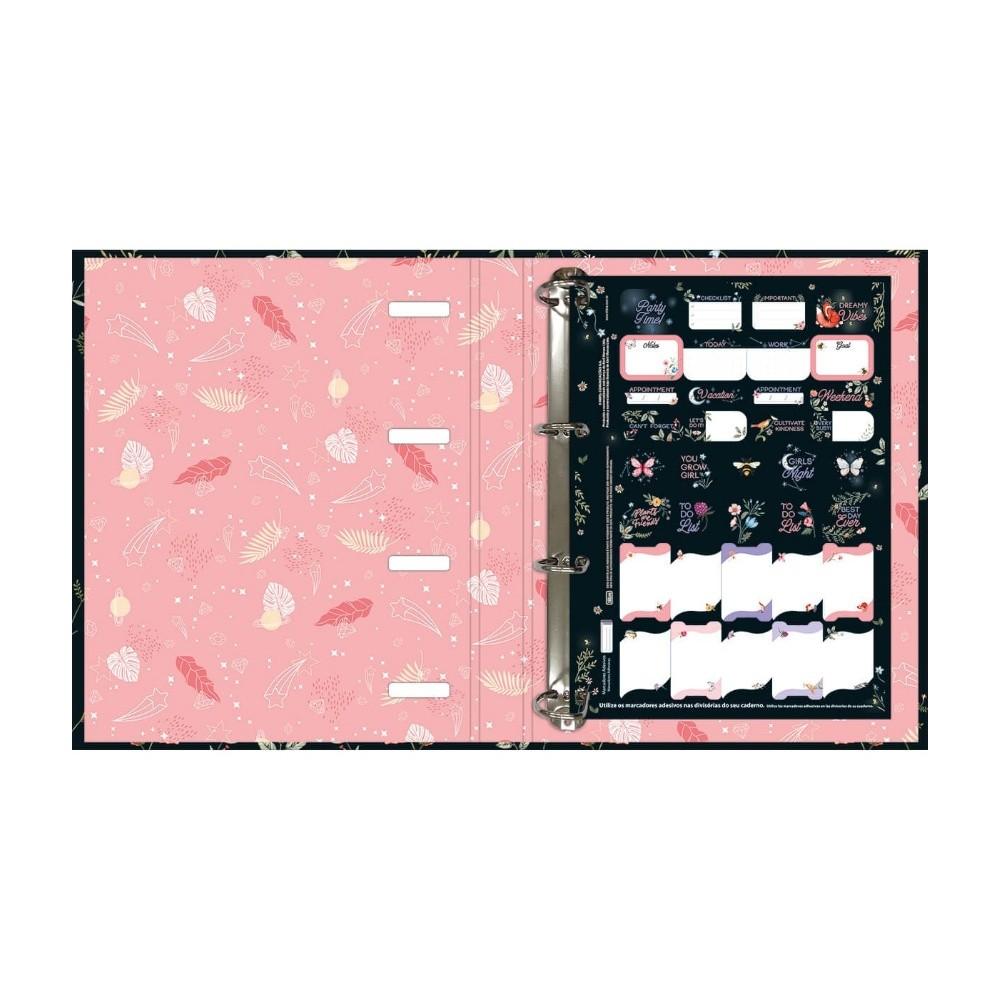 Caderno Argolado Cartonado TILIBRA Capricho c/ Elástico