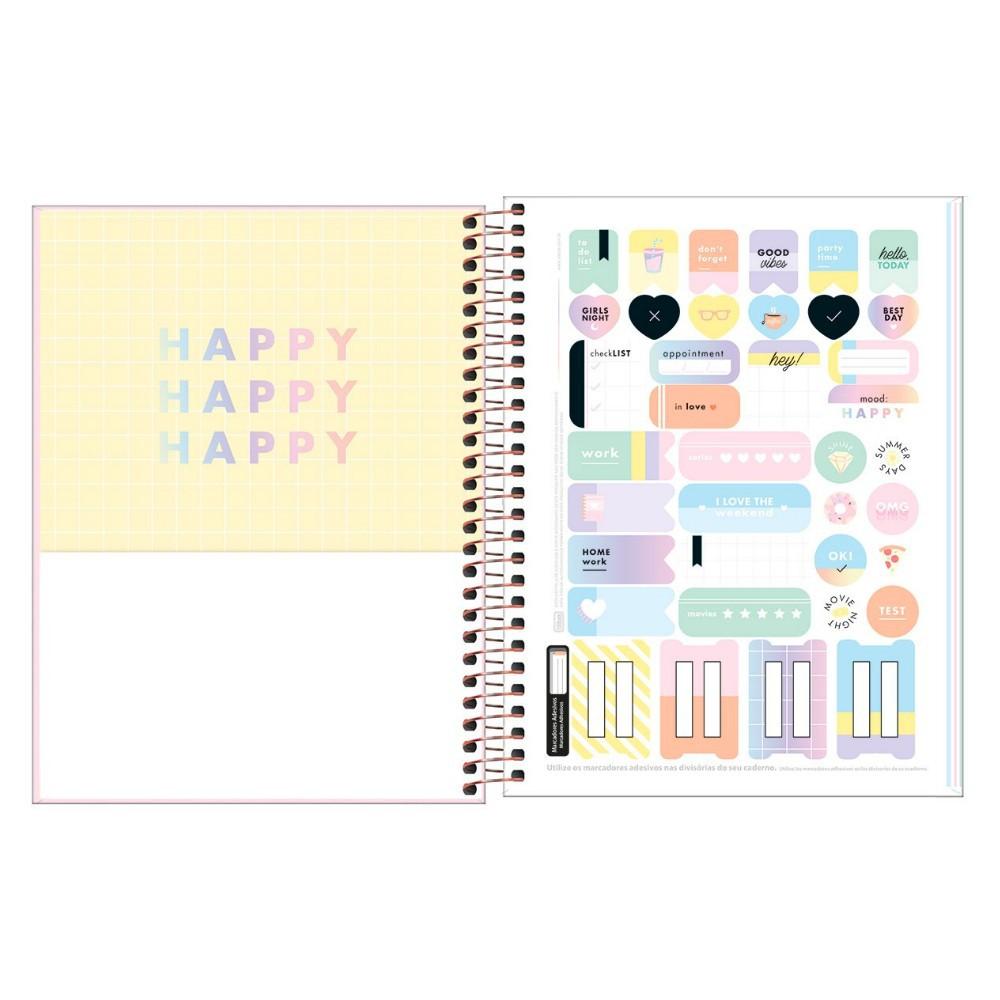 Caderno Colegial TILIBRA Happy Color - 1 Matéria c/ 80 Páginas