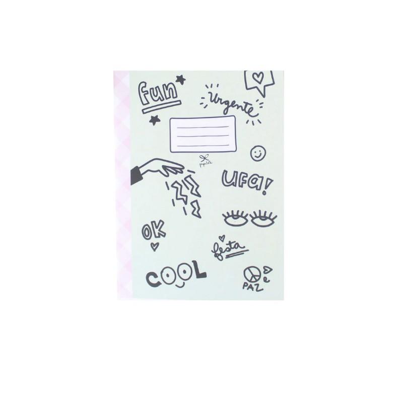 Caderno Flex PAPELOTE Pautado c/ 80 Páginas