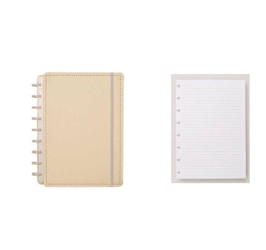 Caderno Inteligente A5 tons Pasteis + Refil A5 pautado