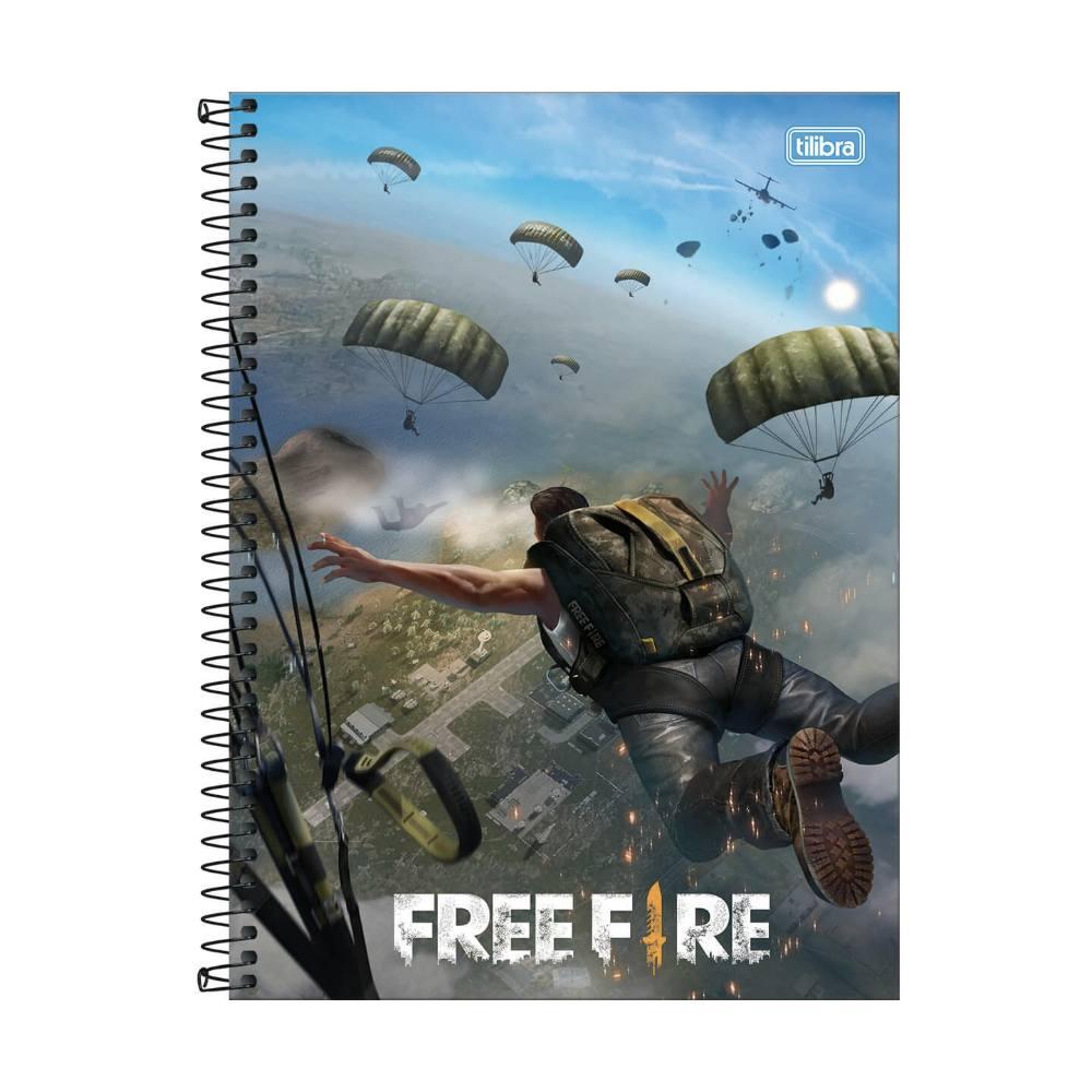 Caderno Universitário TILIBRA Free Fire - 1 Matéria c/ 80 Páginas