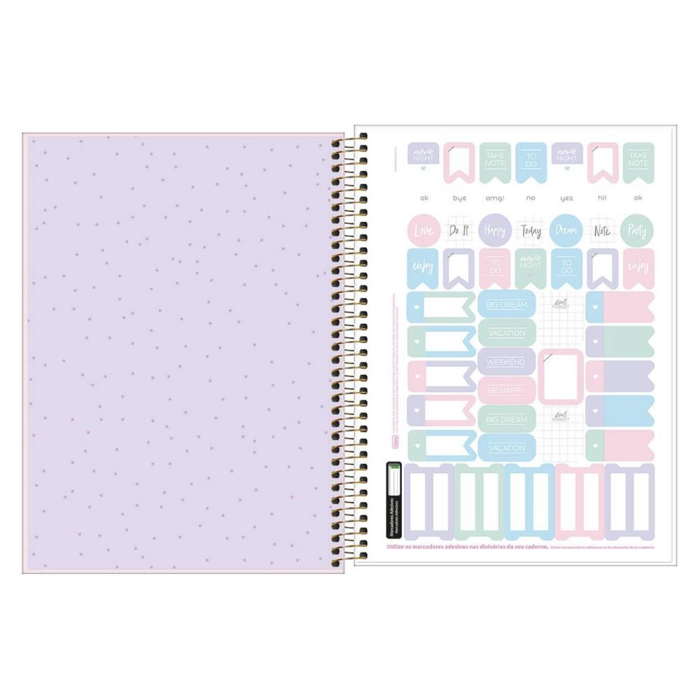 Caderno Universitário TILIBRA Happy - 10 Matéria c/ 160 Páginas