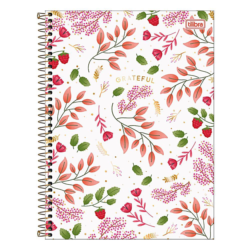 Caderno Universitário TILIBRA Le Vanille - 1 Matéria c/ 80 Páginas