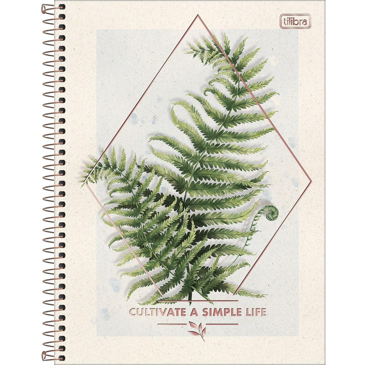 Caderno Universitário TILIBRA Naturalis - 1 Matéria c/ 80 Páginas