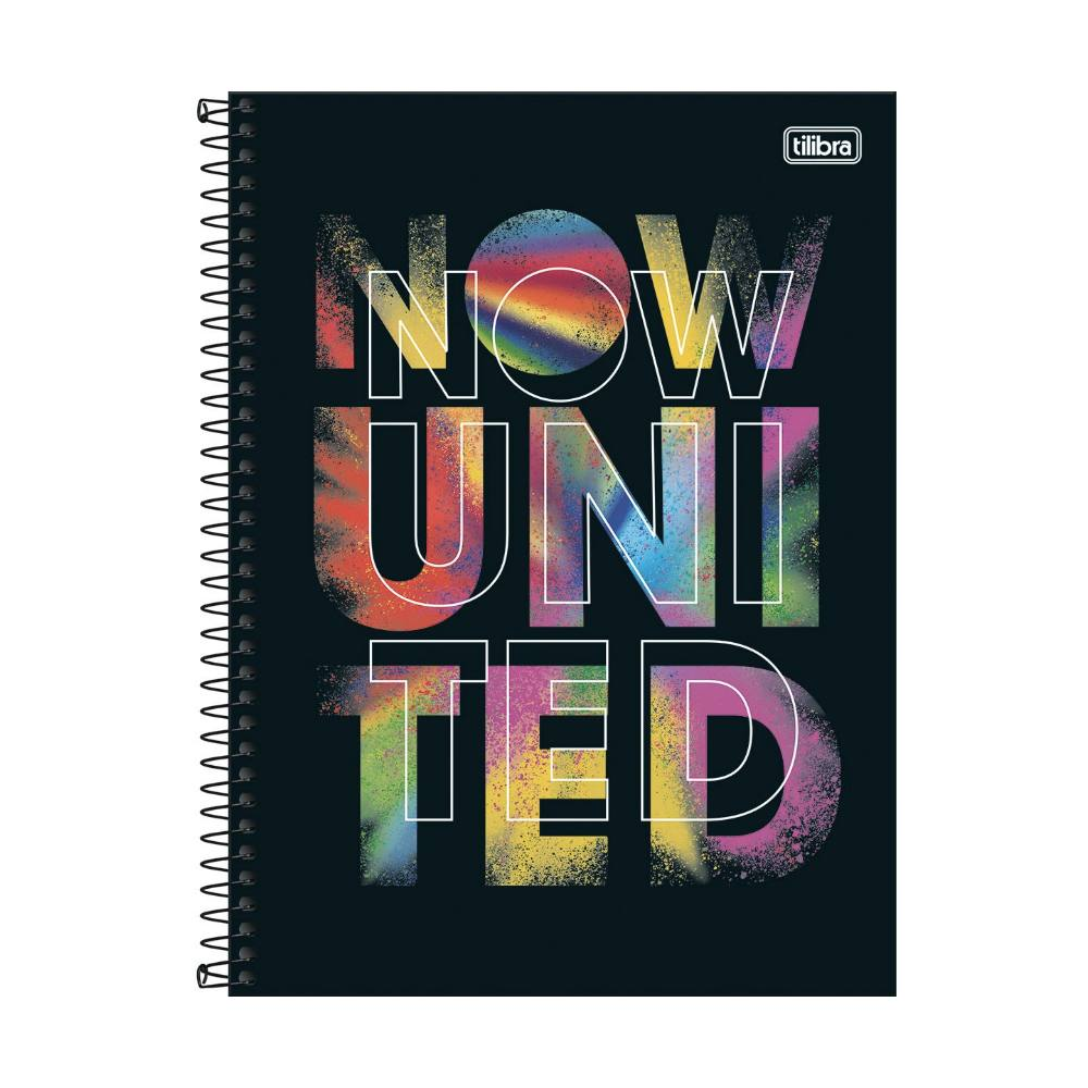 Caderno Universitário TILIBRA Now United - 1 Matéria c/ 80 Páginas