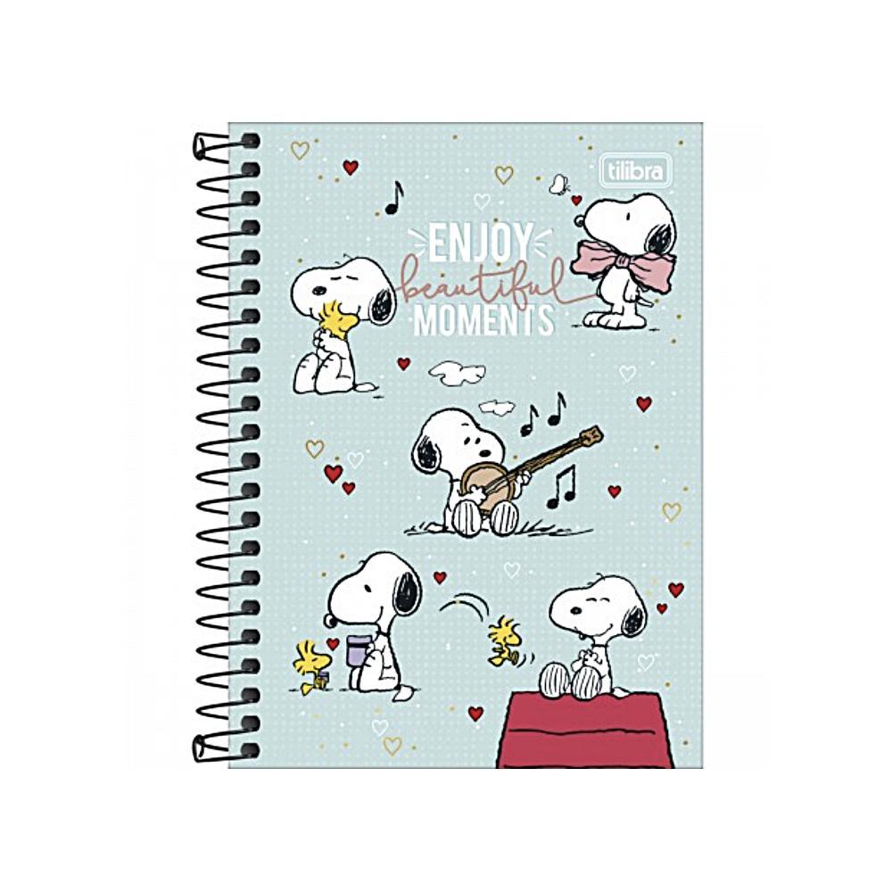 Caderno Universitário TILIBRA Snoopy - 1 Matéria c/ 80 Páginas