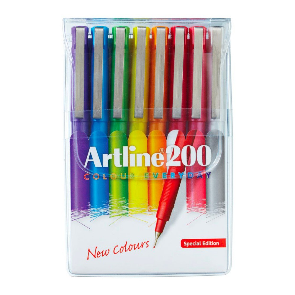 Caneta ARTLINE EK-200 Estojo c/ 8 cores.