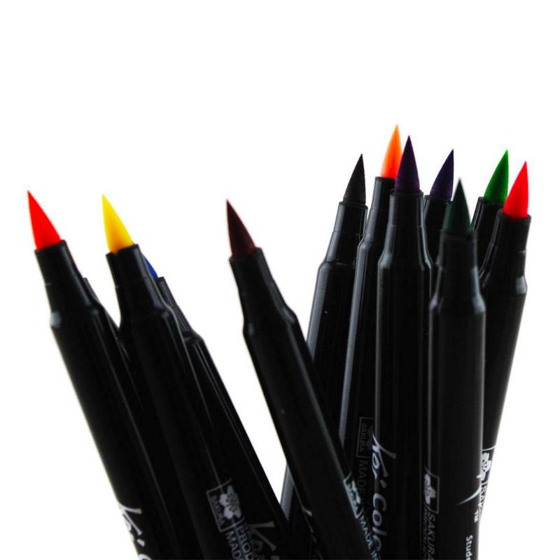 Caneta Brush Pen KOI Estojo c/ 24 Cores