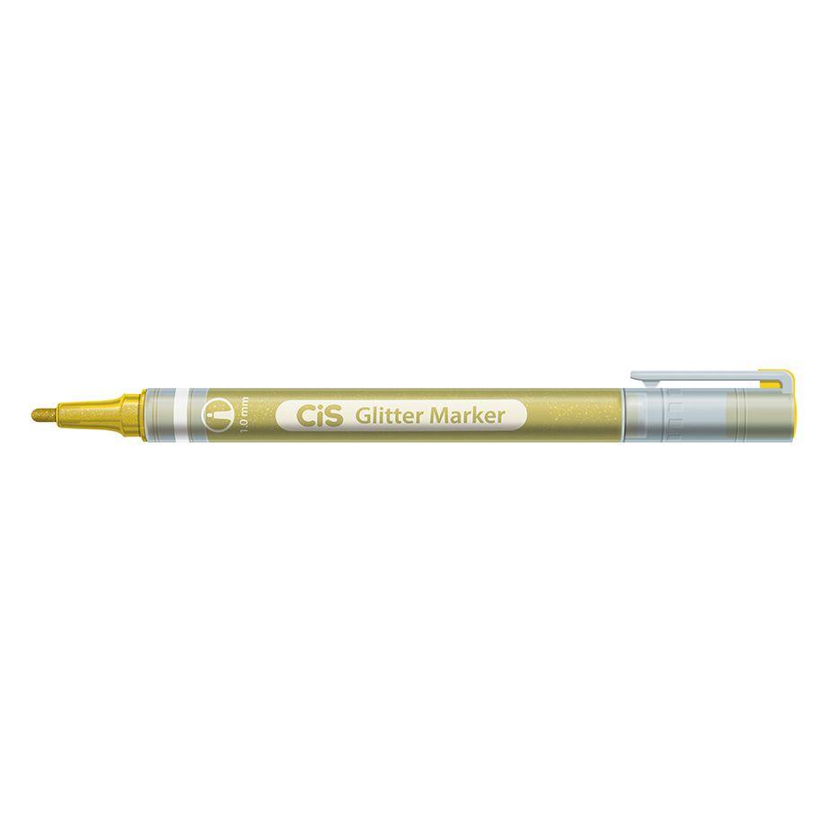 Caneta CIS Glitter Marker Estojo c/ 6 Cores