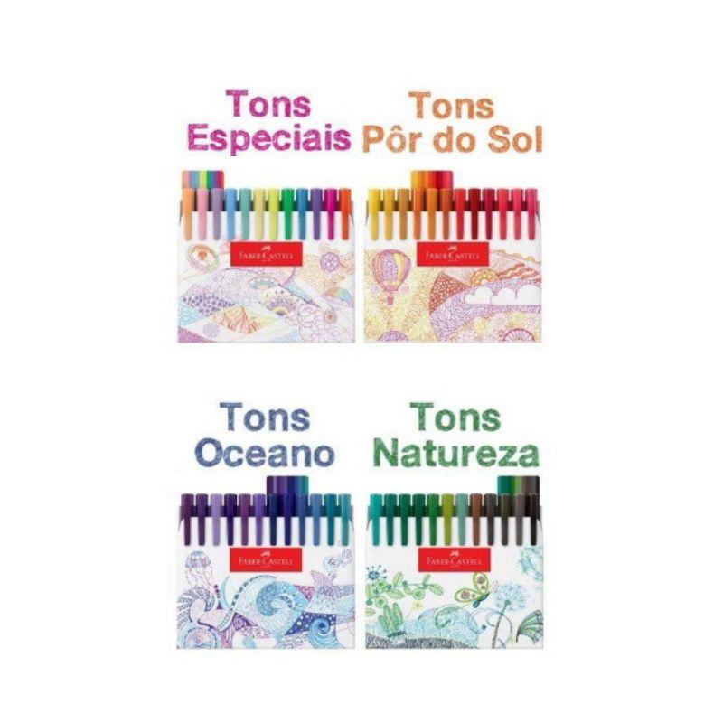 Caneta FABER-CASTELL Fine Pen Estojo c/ 48 cores
