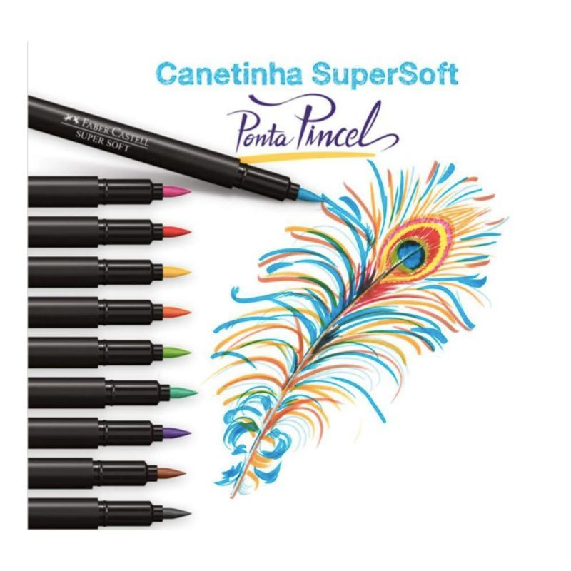 Caneta FABER-CASTELL  Supersoft Brush - Individual