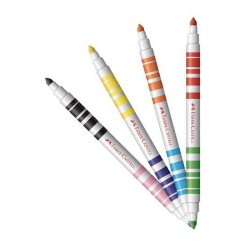 Caneta Hidrográfica FABER-CASTELL Bicolor 24 Unds / 48 Cores
