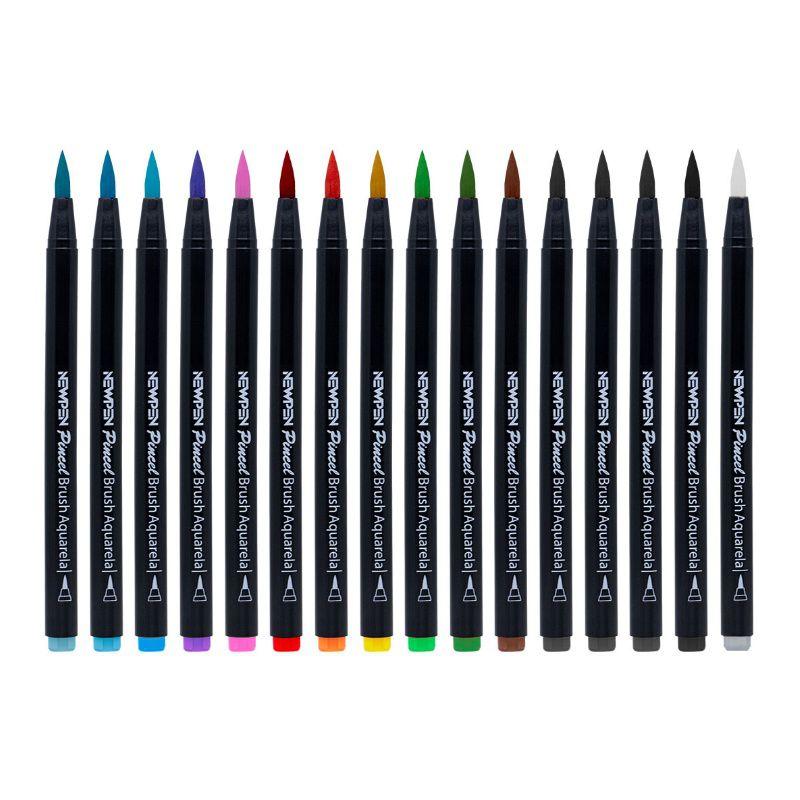 Caneta Pincel Brush Pen NEWPEN c/ 16 Cores