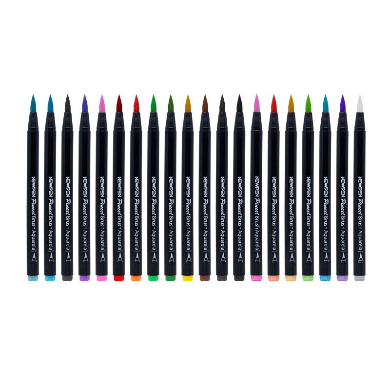 Caneta Pincel Brush Pen NEWPEN c/ 20 Cores