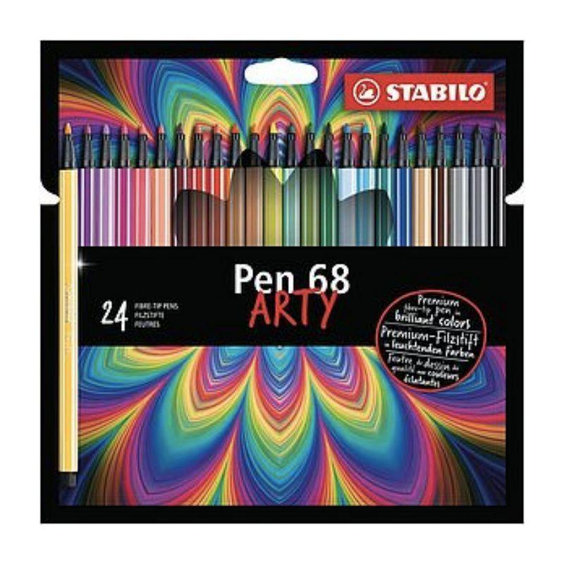 Caneta STABILO Pen 68 Arty c/ 24 Cores