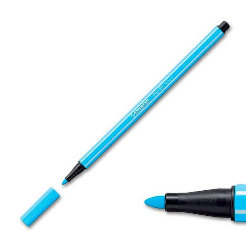 Caneta STABILO Pen 68 Pastel Estojo c/ 8 Cores