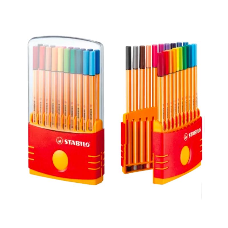 Caneta STABILO Point 88 Estojo c/ 20 cores - Color Parede