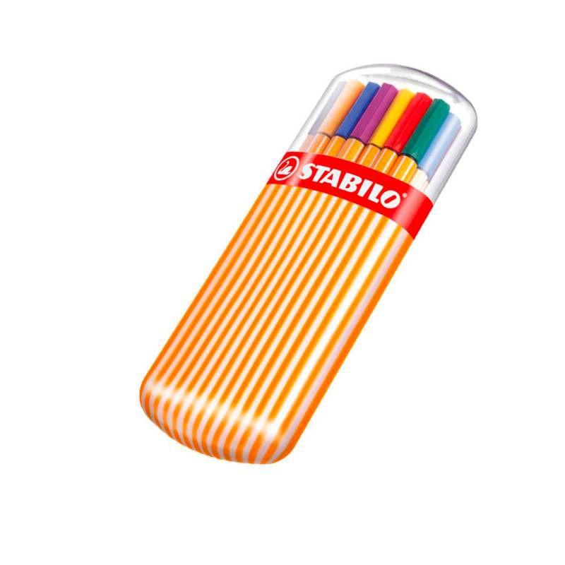 Caneta STABILO Point 88 Estojo c/ 20 cores - Zebrui