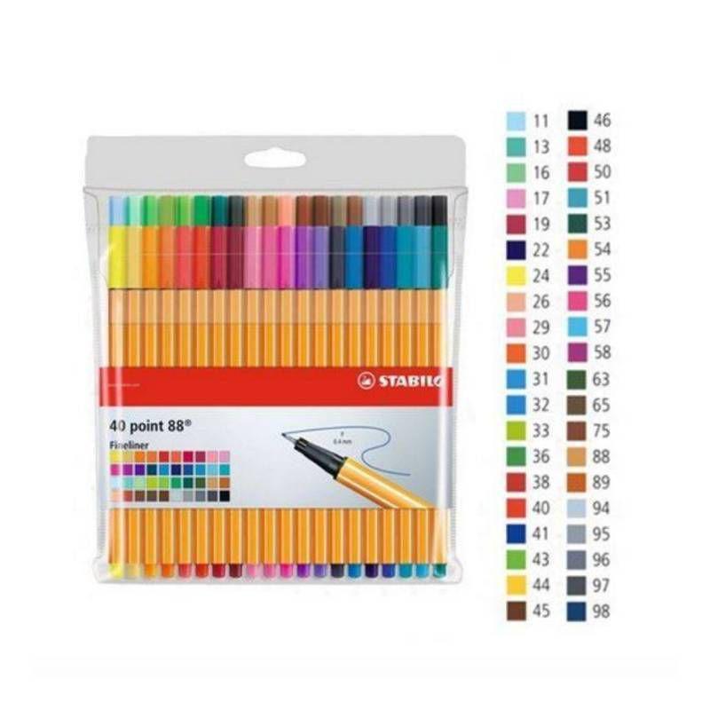Caneta STABILO Point 88 Estojo c/ 40 cores