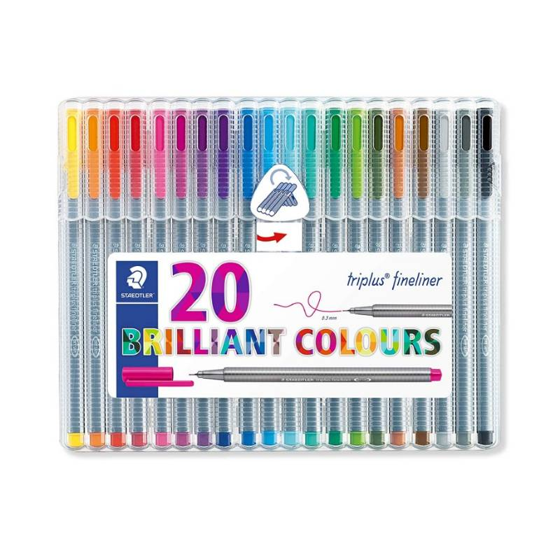 Caneta STAEDTLER Triplus Fineliner 334 c/ 20 Brilliant Colours