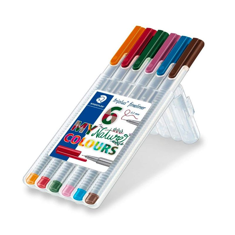 Caneta STAEDTLER Triplus Fineliner 334 c/ 6 Nature Colours