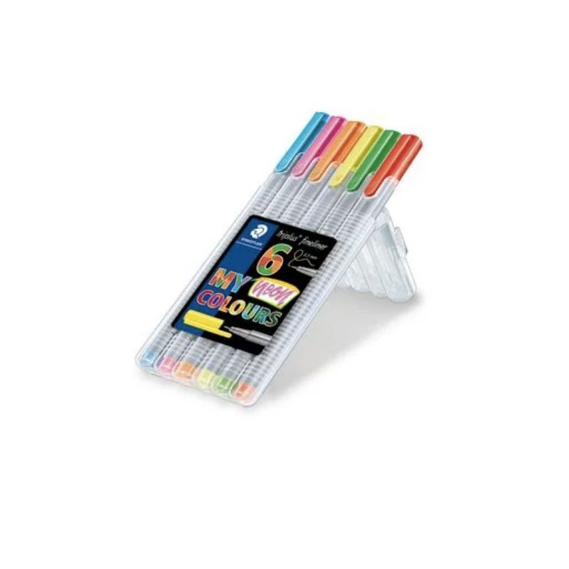 Caneta STAEDTLER Triplus Fineliner 334 Neon Colours c/ 6 Unids