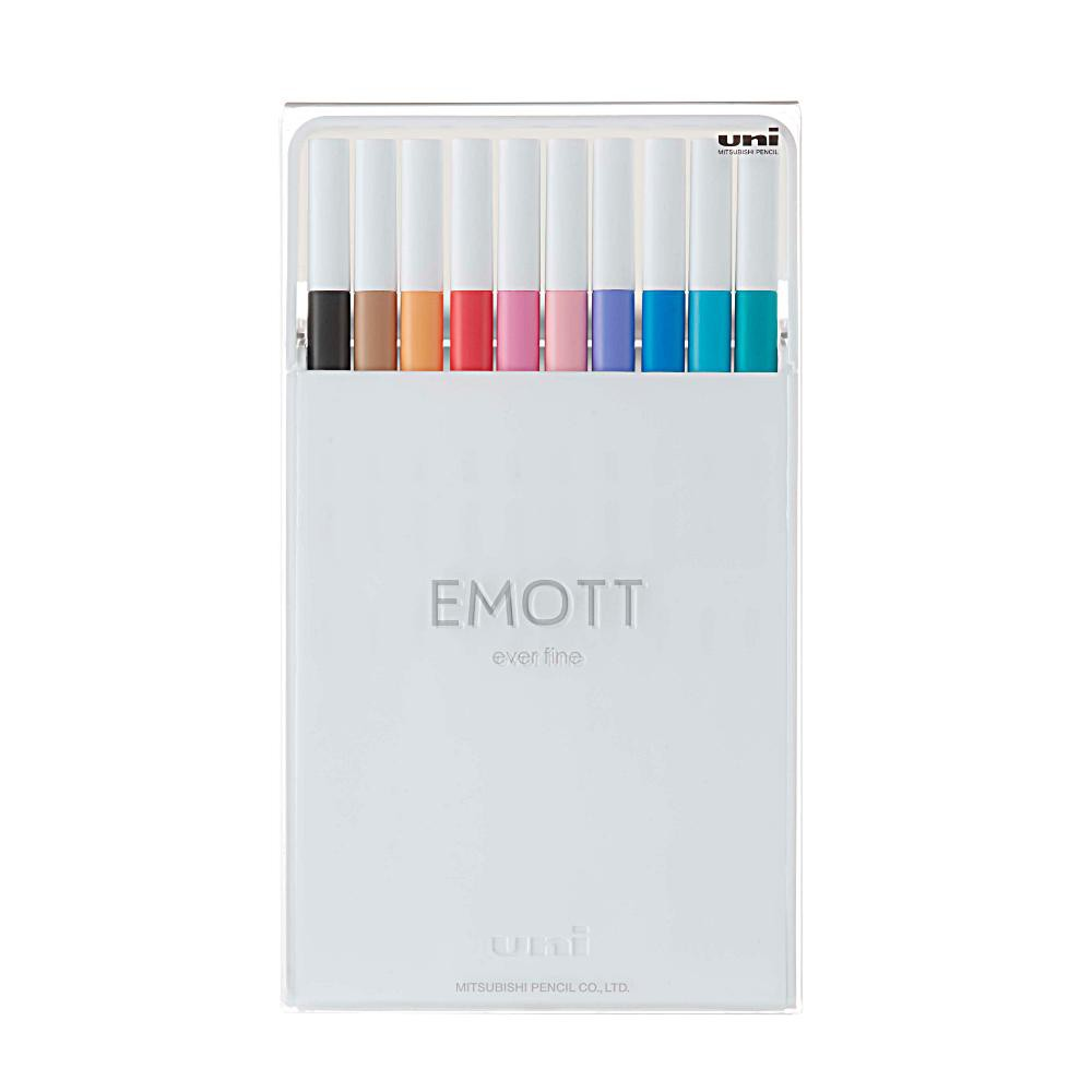 Caneta UNI-BALL Emott Soft Pastel c/ 10 Cores N.2