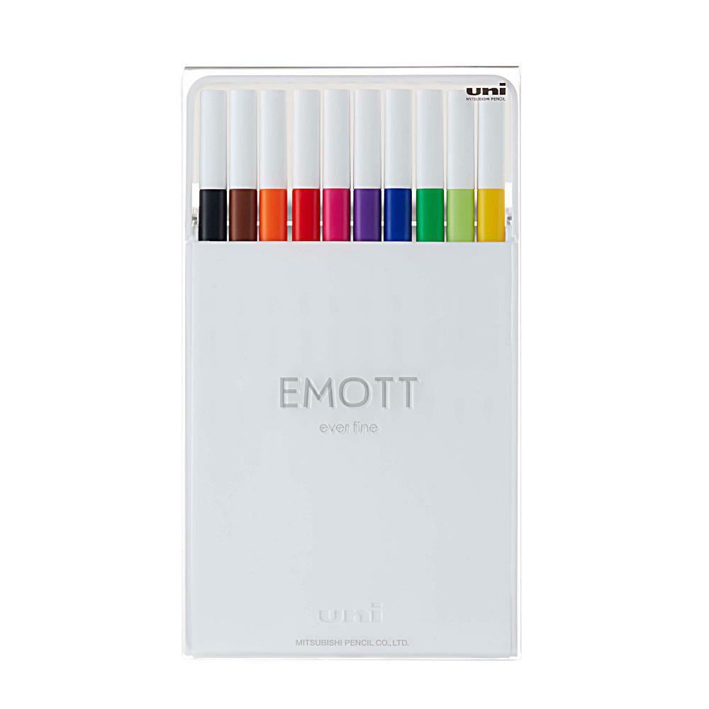 Caneta UNI-BALL Emott Standart Colors c/ 10 Cores N.1