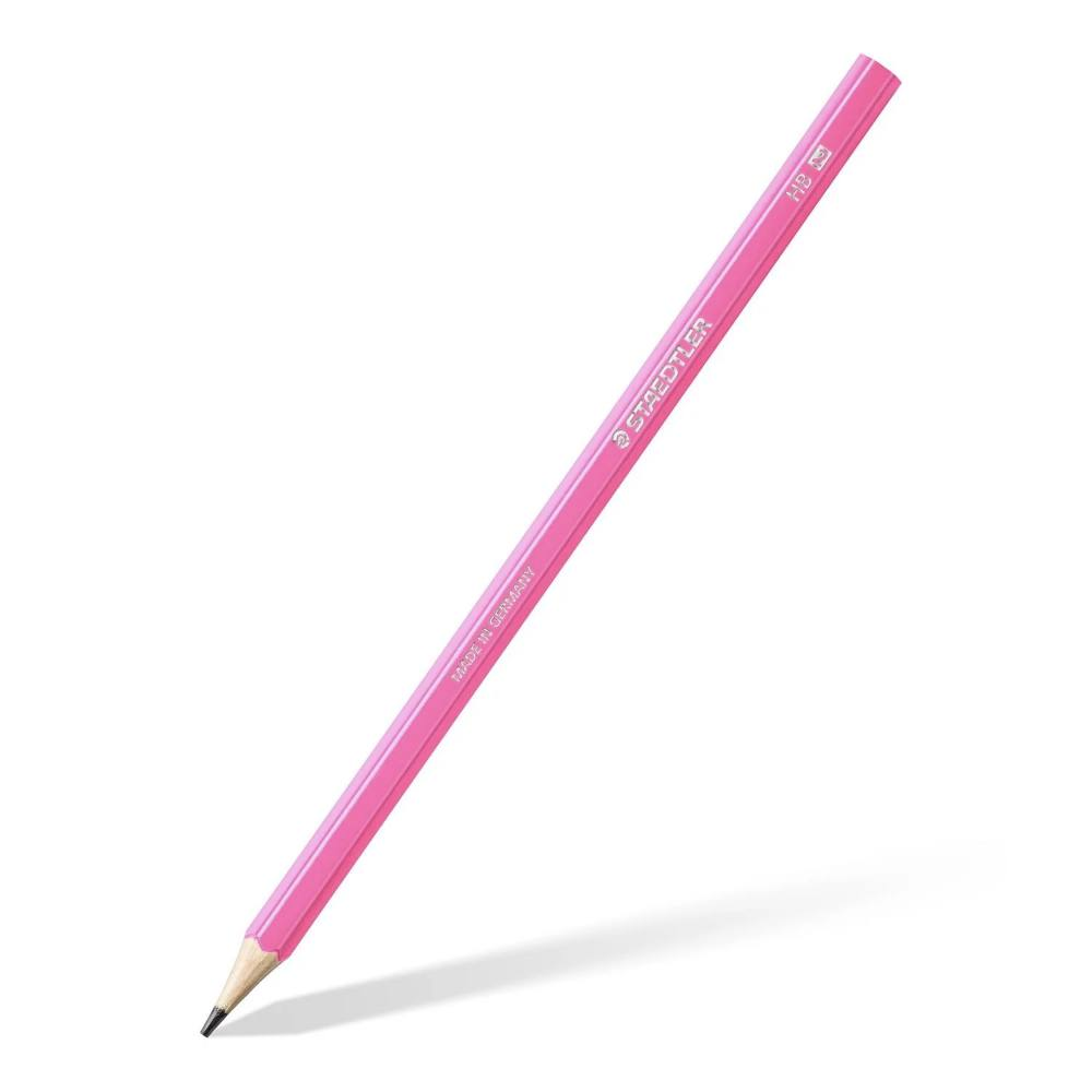 Cj. Lápis Preto STAEDTLER c/ 3 Cores Neon - Am/Rs/Rx