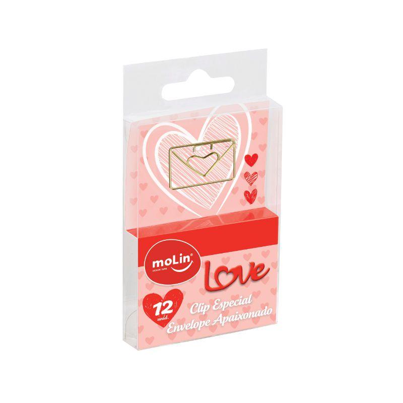 Clips Envelope Apaixonado MOLIN c/ 12 Unids