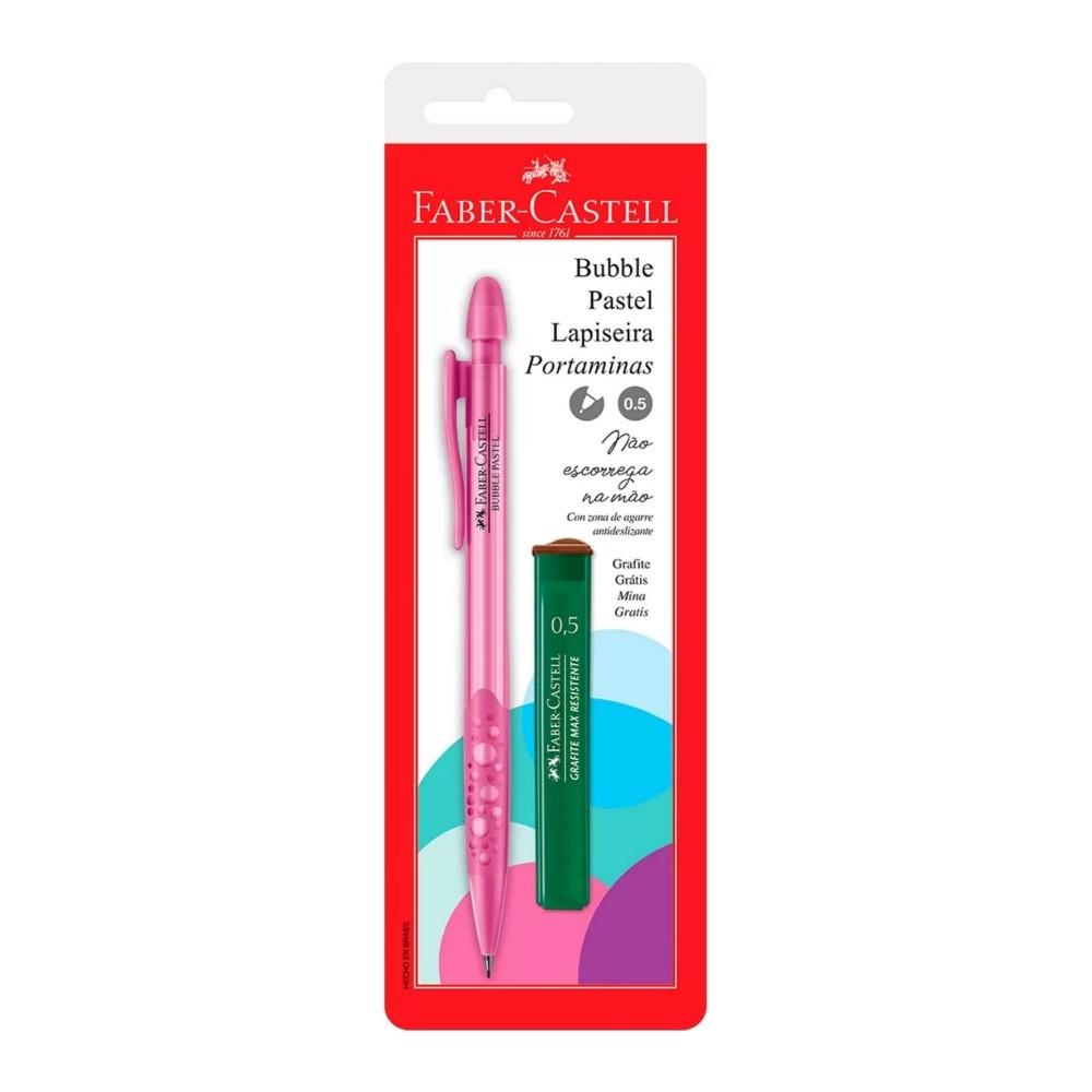 Conjunto FABER-CASTELL Lapiseira Bubble Rosa 0,5mm + Grafite