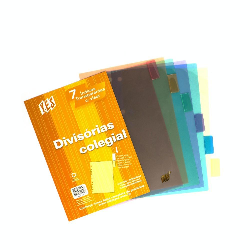 Divisória YES 7 Divisões c/ Visor Transparente B5