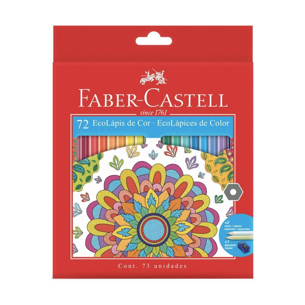 EcoLápis de cor FABER-CASTELL c/ 72 Cores + Apontador