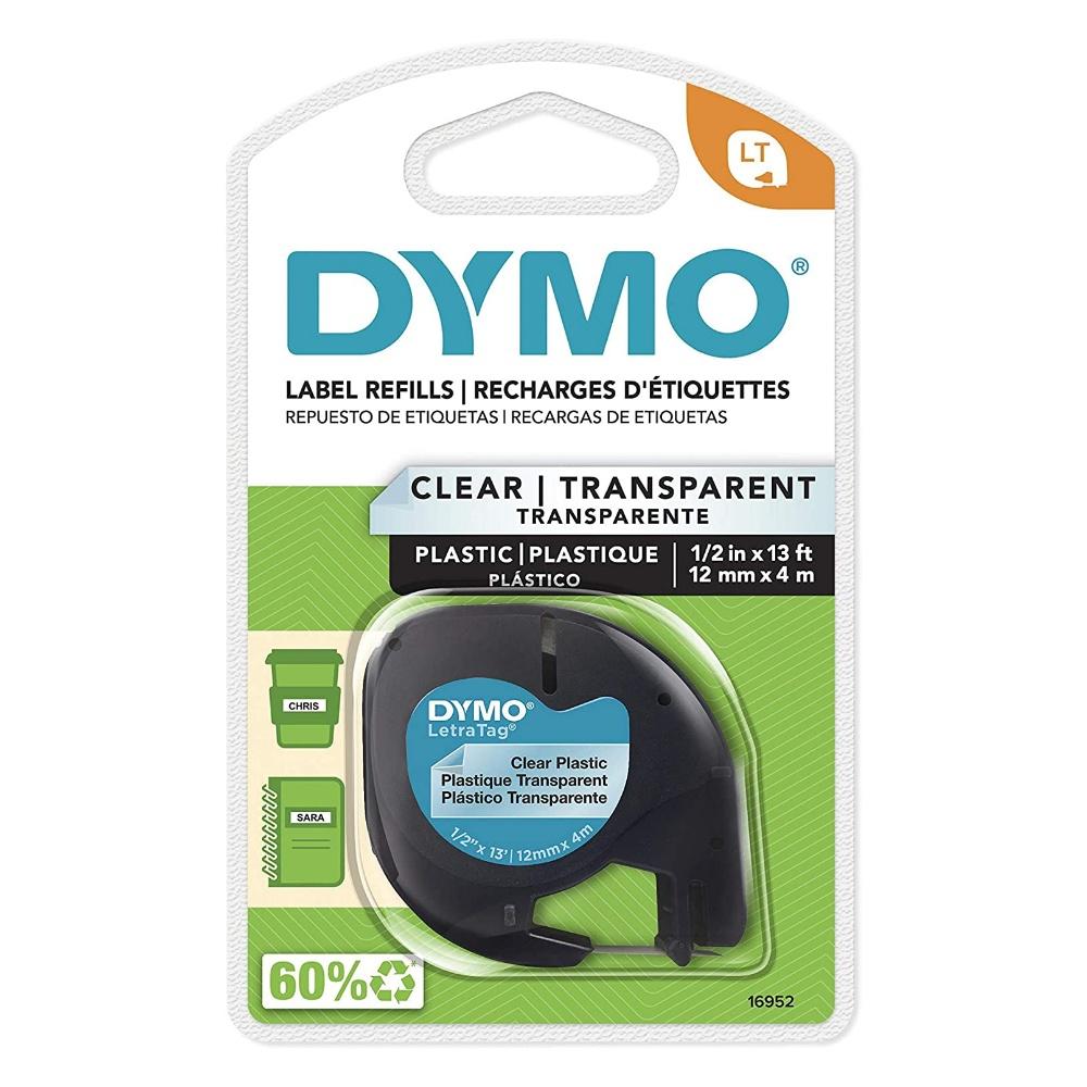 Fita Poliéster Transparente DYMO Para Rotulador Eletrônico Letratag