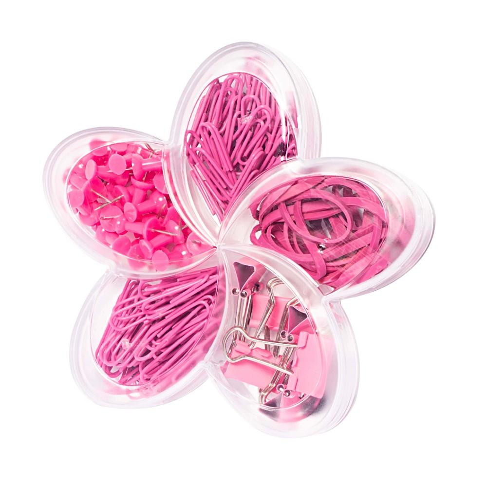 Flor de Lótus MOLIN Pink Set (Binder, Percevejos, Clips e Elásticos).