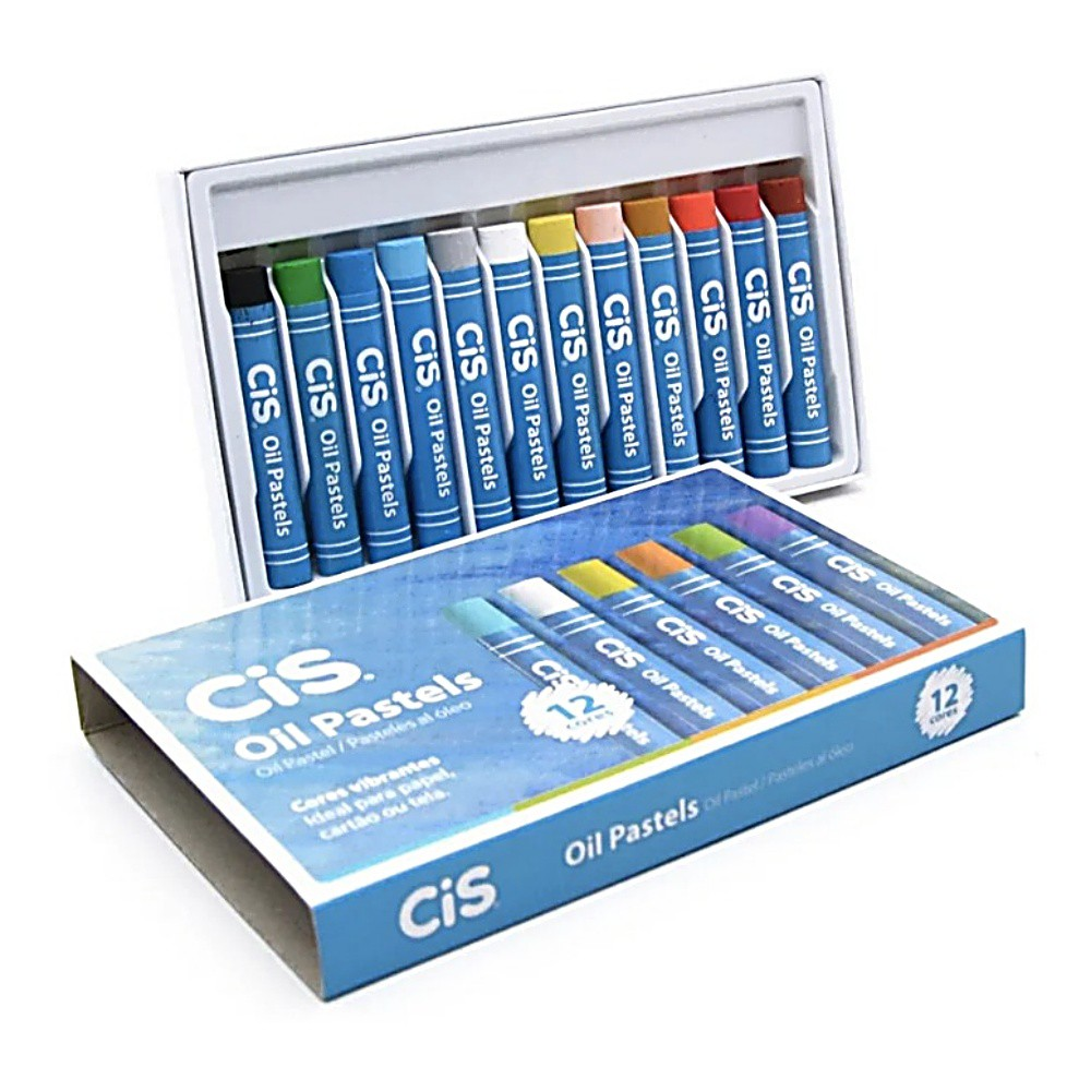 Giz CIS Pastel Oleoso  c/ 12 Cores