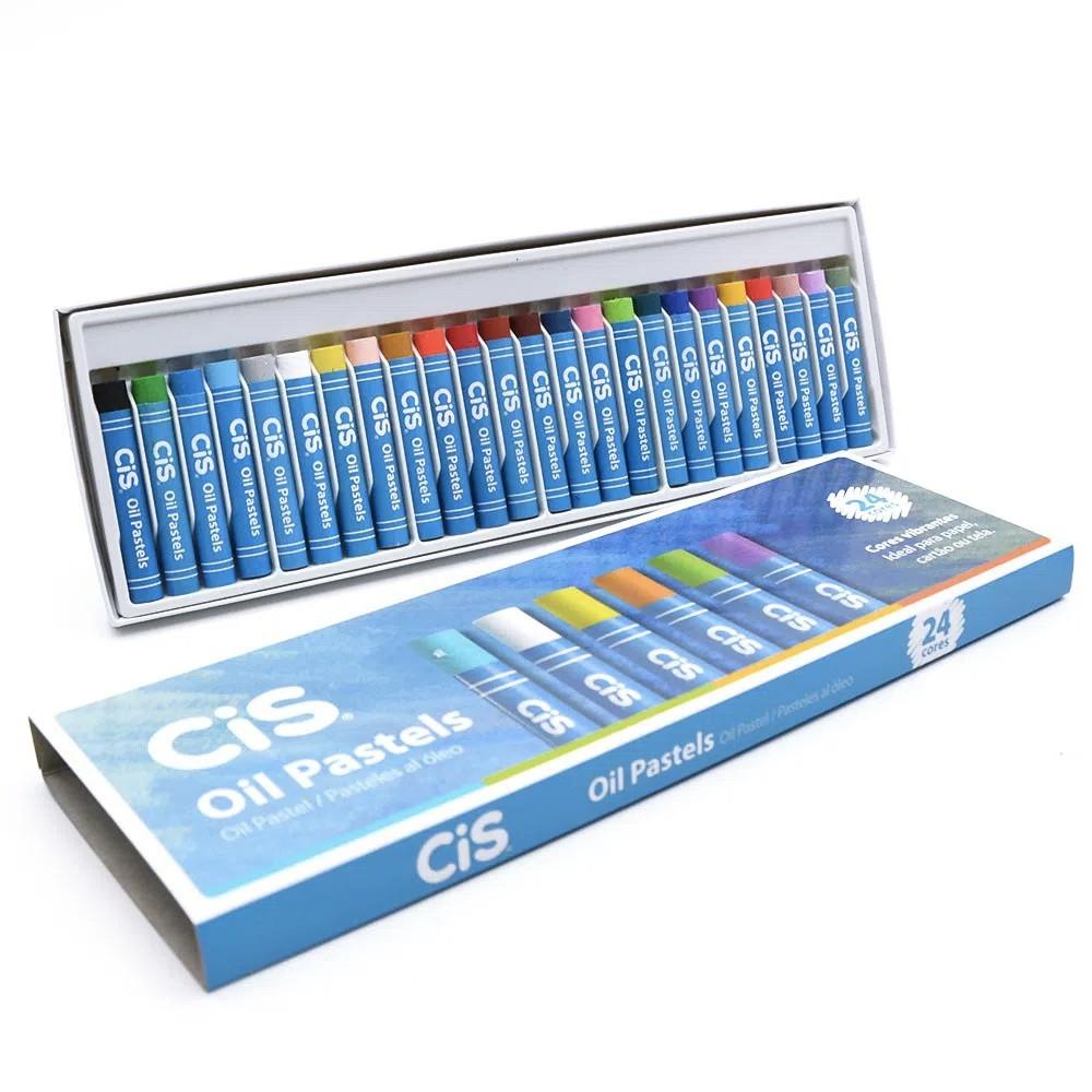 Giz CIS Pastel Oleoso  c/ 24 Cores