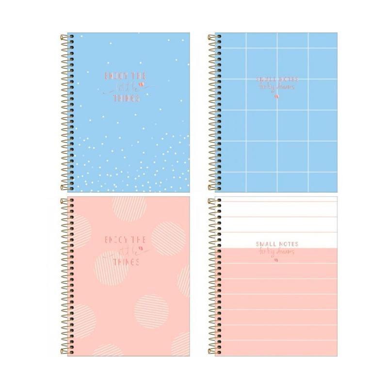 Kit 4 Cadernos Colegial TILIBRA Soho (1 Matéria)