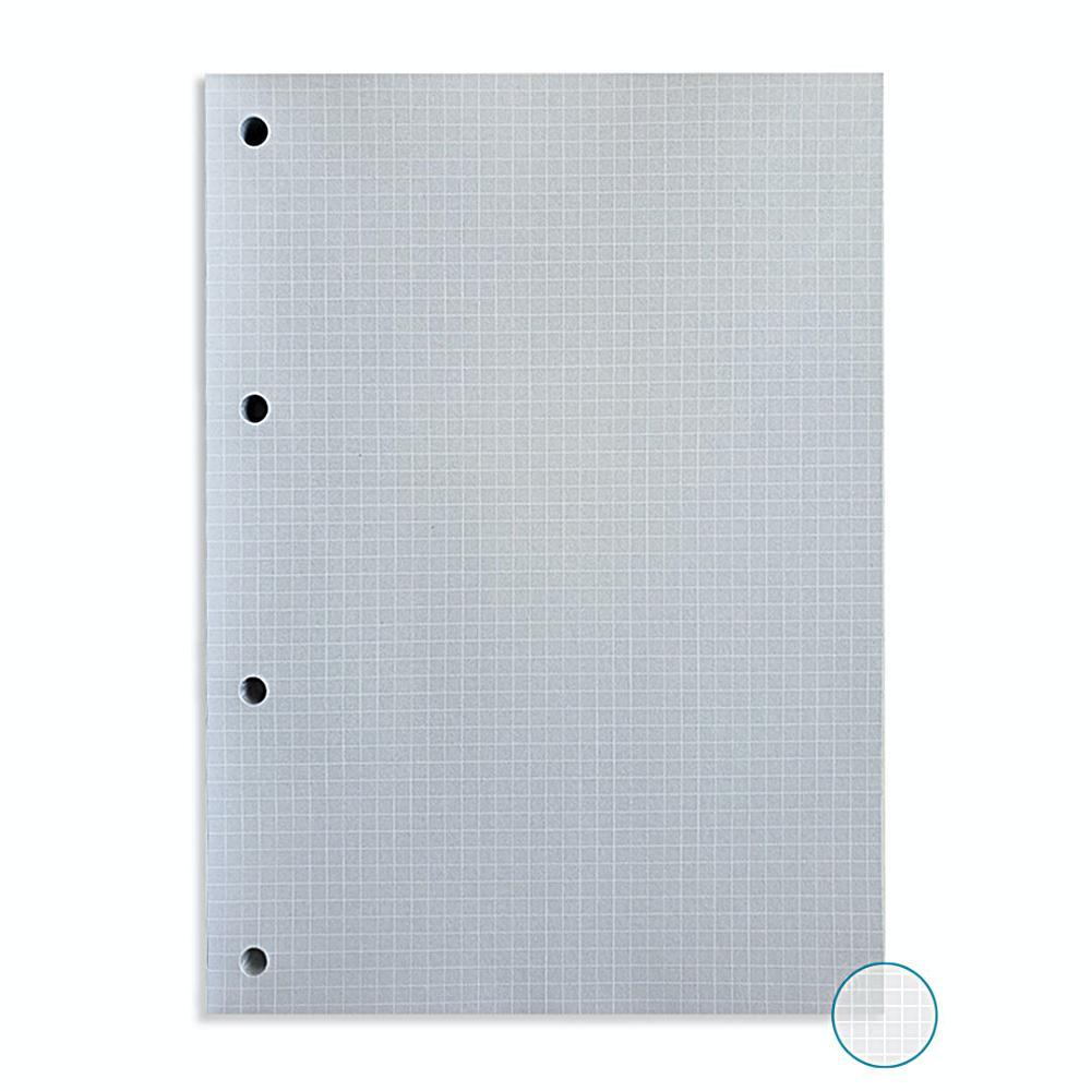 Kit Bloco NALÍ Linhas Brancas p/ Fichário A4 90g/m2 c/ 80 Folhas (Pautado, Pontilhado e Quadriculado)